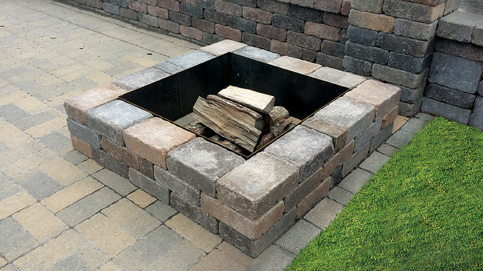 Borgert products outdoor living product gallery borgert for Fire pit on concrete slab